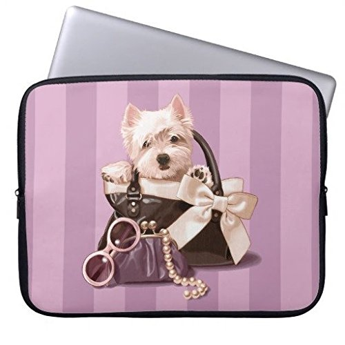 Neoprene Laptop Sleeve Eratio Westie Puppy in Handbag 10 Inch MacBook Air Case MacBook Pro Sleeve and 10 Inch Laptop Bag
