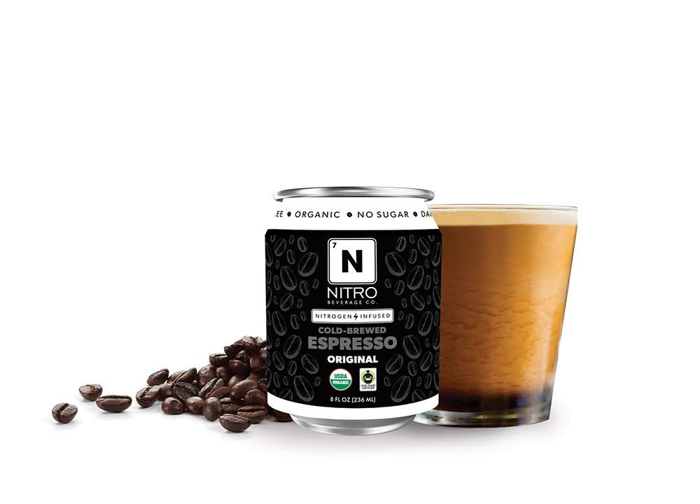 NITRO Beverage Co. | 12-Pack (8 fl oz) | Original NITRO Cold-Brewed Espresso | Certified Organic & Fair-Trade | Sugar Free, Dairy Free, Zero Calories | Always Cold, Always Fresh ...