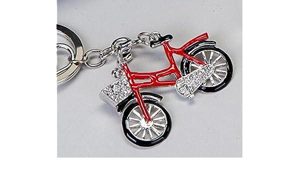 Llavero Bicicleta, rojo, 6 cm: Amazon.es: Juguetes y juegos