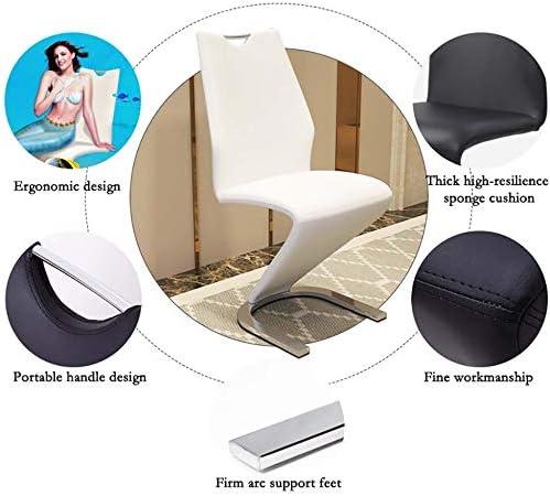 Drcy Chaises de Salle à Manger de Loisirs, Tabouret de Bar avec Dossier en Cuir PU Et Pieds en MéTal Chaises design/Noir / 2