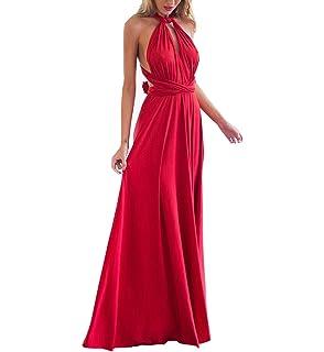 d672e54a86e imely Femme Longue Robe Rayures Taille Haute Mince Robe De sans Manches  Robe Maxi