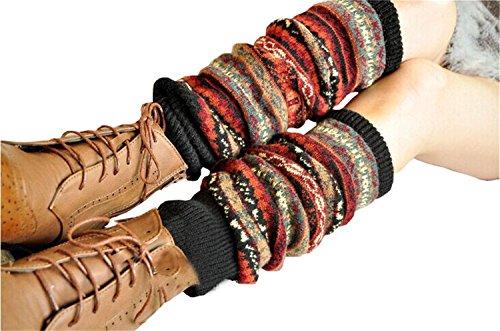 Women's Knee High Winter Knit Crochet Boot Socks Leg Warmers