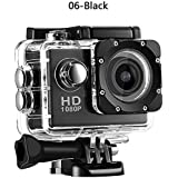 ZHUOTOP 1080P Waterproof Camera Universal Full HD Lot Car Cam Sports Action Camera Black