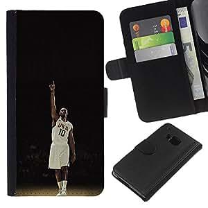 EE.UU. 10 de Baloncesto - la tarjeta de Crédito Slots PU Funda de cuero Monedero caso cubierta de piel Para HTC One M9