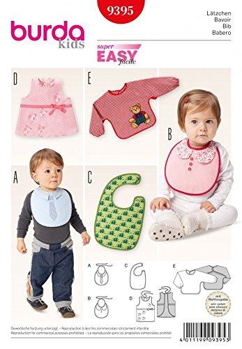 Burda Baby Easy Sewing Pattern 9395 Novelty Bibs in 5 Styles + Free ...