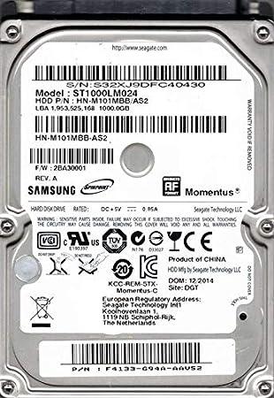 Samsung ST1000LM024 HN-M101MBB/as2 F/W: 2ba30001 Seagate 1 TB ...
