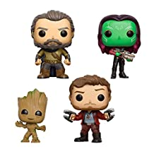Funko - Figurine Marvel Gardiens de la Galaxie Vol 2 - 4-Pack Star-Lord Groot Gamora Ego Exclu Pop 10cm - 0889698141420