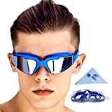 GAOGE Swimming Goggles No Leaking Anti Fog UV Protection Clear Triathlon Swim Goggles with Free...