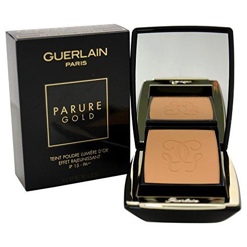 Guerlain Parure Gold Radiance Powder SPF15 # 04 Moyen/Medium Beige Foundation (Refillable) for Women, 0.35 Ounce