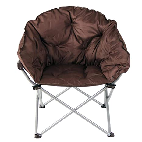 XITER Brown Moon Chair Creativa Lazy Oxford Tela Plegable ...