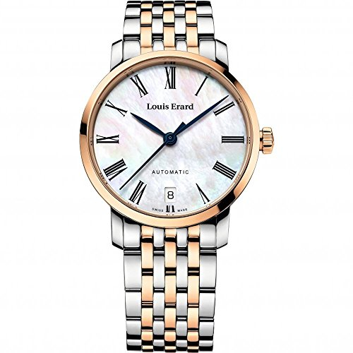 Louis Erard Women's Excellence Exclusive 33mm Two Tone Steel Bracelet Automatic Watch 68235AB04.BMA54