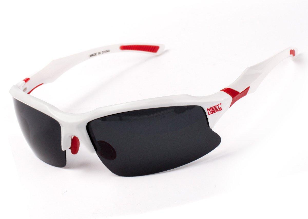 MEETLOCKS gafas de sol deportivas, lentes polarizadas, marco de la PC de la alta calidad con el marco de Removeable Miopía ojos, para el esquí golf caballo ...