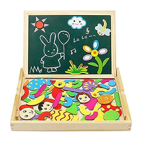 Puzzle Magnetico Legno Giocattolo Di Legno Bambini Con Lavagna A