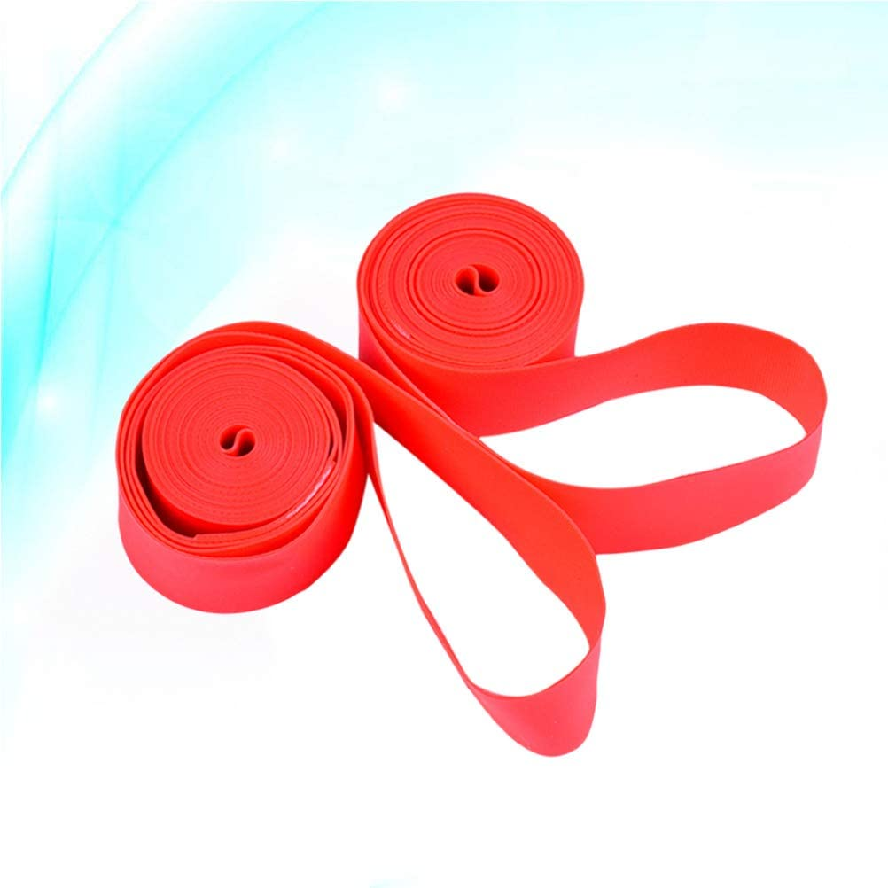 LIOOBO 2 Pcs Bicycle Tire Cushion Linner Puncture Proof Inner Tube Tires Protector Rim Tape Rim Strap for Road Bike 26 Inch x 18mm