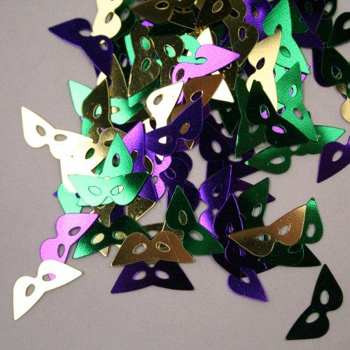 Beistle Mardi Gras Masks Foil Confetti ()