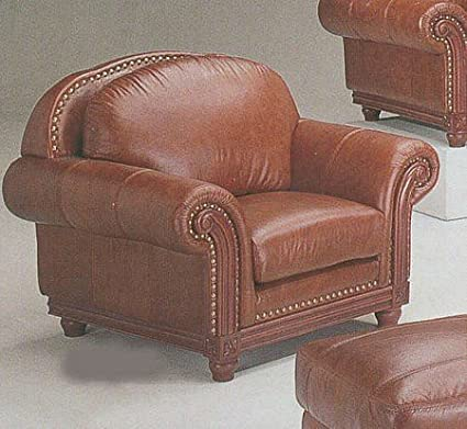 Amazon.com: Saddle Brown Sofa Chair/Couch in 100% Real ...