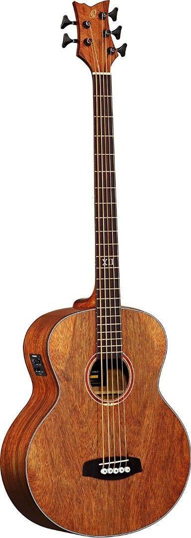 Ortega Guitars D3NC-5 Deep Series Three 5-String Non-Cutaway Acoustic Bass with Paldao Top/Body, Gloss Finish
