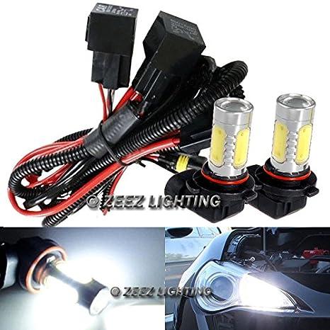 ZEEZ DRL - LED High Beam Daytime Running Light DRL Conversion Kit w/ 6000K  9005 Hi-B Bulbs