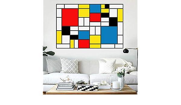 NIMCG Arte Abstracto Lienzo Pintura Impresiones Modernas póster por Piet Mondrian Cuadros de Pared para decoración de Sala Cuadros 50x70 cm (sin Marco): Amazon.es: Hogar