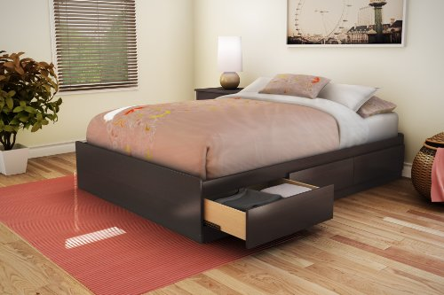 South Shore 3159211 Storage Collection 54-Inch Full Mates Bed, Chocolate