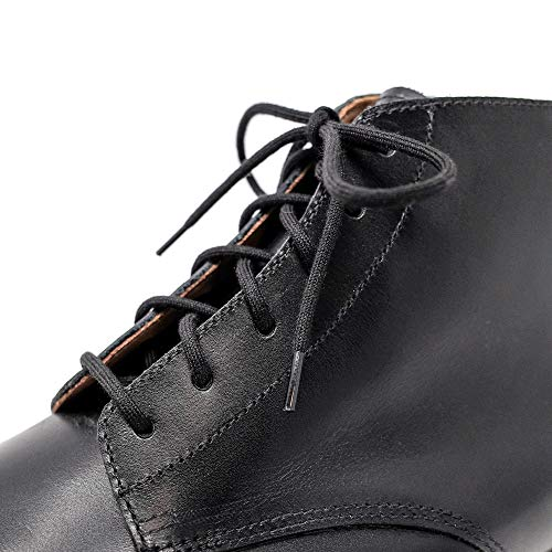 - Black Shoelaces [2 Pairs] 100% Cotton Made in Italy Rounded Unwaxed