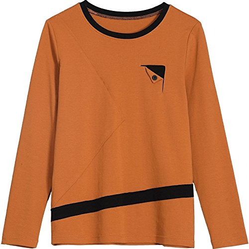 grandi di Stitching T Impact Maglietta maniche lunghe agrume a MOMO412654 shirt dimensioni nxwfp4q6SR