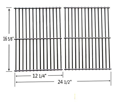 BBQ Mart SG2932 Stainless Steel Cooking Grid Replacement for Charbroil, Centro, Kenmore, Front Avenue, Kirkland, Kmart, Master Chef and Thermos Gas Grill Models (SET OF 2)