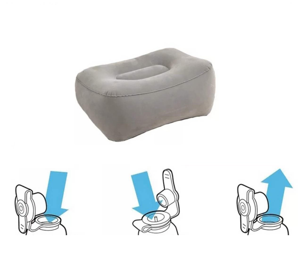 Inflatable Travel Leg Foot Rest Pillow and Sleep Cushion for Kids and Adults – Foot Rest Cushion for Airplane/Car/Bus/Train/Office,Travel Rest Bed,Long Trip Companion