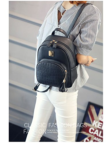 Mounter ER2B5 SB Negro Bags Bolso Gris DH GB3V5 para Hombro Negro al Mujer PUPwr5q6