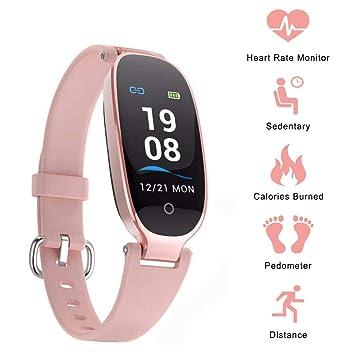 Winnes Reloj Mujer, Monitor de Actividad Pulsómetro y Podómetro Mujeres Impermeable IP67, con Bluetooth Contador de Pasos y Monitor de Sueño para ...