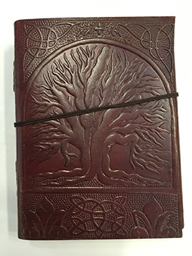 Avs Stores Leather Life Of Tree-shaped dark brown diary Sketch Notebook Scrapbook Personal handmade paper Traditional photo paper Leather-book univers…