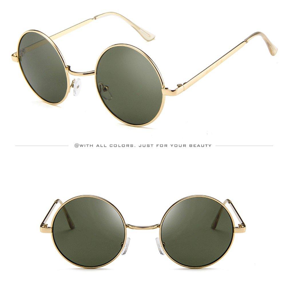 dea1ddd02e56 Amazon.com  AMOFINY Fashion Glasses Women Men Vintage Retro Unisex Driving Round  Frame Sunglasses Eyewear  Clothing