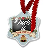 Add Your Own Custom Name, Classic design Fuck it, Let's Dance Christmas Ornament NEONBLOND