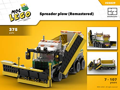 Spreader plow (Remastered) (Instruction Only): MOC LEGO por Bryan Paquette