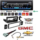 JVC KD-RD79BT 1-Din Car CD Receiver Stereo w/Bluetooth/USB/AUX/Pandora/iPhone Car CD Stereo Receiver Dash Install Mounting Kit Wire Harness Cadillac Cheverolet GMC 1995-2005