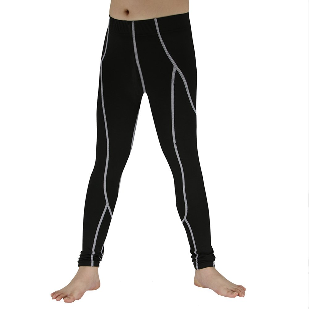 Boys & Girls Compression Pants Running Tights Capri Pants Base layer Leggings