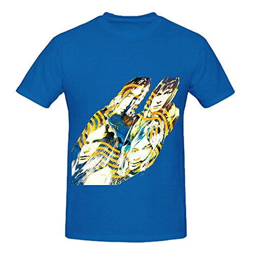 All Right Now Free Rock Men Round Neck Cute Tee Shirts Blue