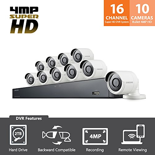 SDH-C85100BF - Samsung 16 Channel 4 MP Security - Samsung Security Camera Systems