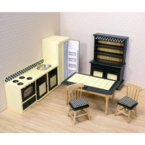 Melissa & Doug Deluxe Doll-House Kitchen Furniture