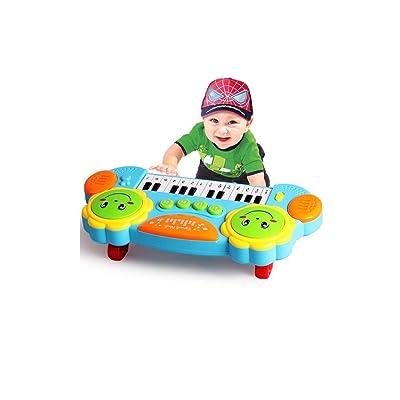 Hfmac Juguete Musical Piano for Niños Bebé Infantil Niño Nuevo Instrumento Musical Juguete Niños Multifunción Piano Música Juguetes Desarrollo Juguetes Educativos Tempranos Regalo: Instrumentos musicales