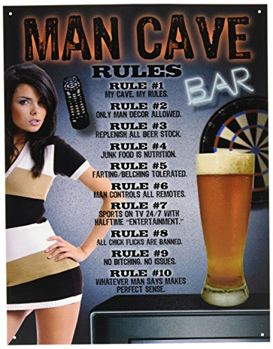 Man Caves Medina Ohio : Upc desperate enterprises man cave quot rules