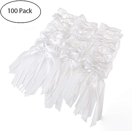 Queta - 100 lazos de lazo de lazo para boda o coche, lazo de satén para decoración de coche: Amazon.es: Hogar