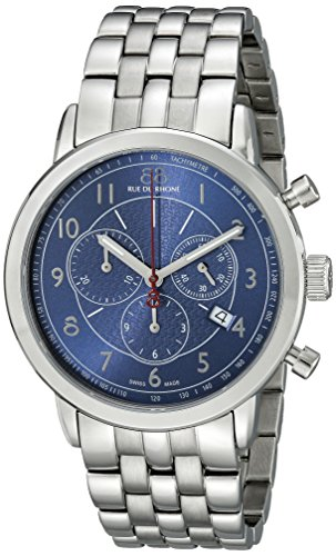 88-Rue-du-Rhone-Mens-87WA120051-Stainless-Steel-Bracelet-Watch-with-Blue-Dial