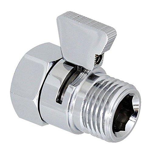 (Interior Solutions Shower Head Flow Control Shut Off Valve Water Flow Reducing Controller for Bidet Sprayer Shower Head Supply Water Stop Brass Chrome)