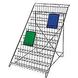 Black Floor Standing Wire Rack (Book and Magazine Rack)