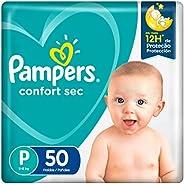 Fralda Pampers Confort Sec P 50 Unidades, Pampers