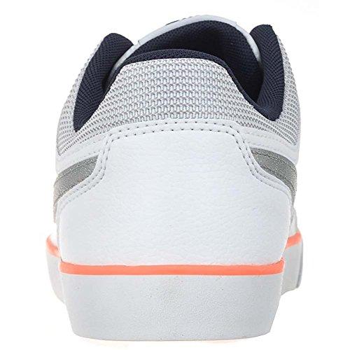 Nike Capri 3 Ltr (Gs), Zapatillas de Tenis para Niñas Blanco / Plateado / Negro (White / Mtllc Slvr-Obsdn-Brght M)