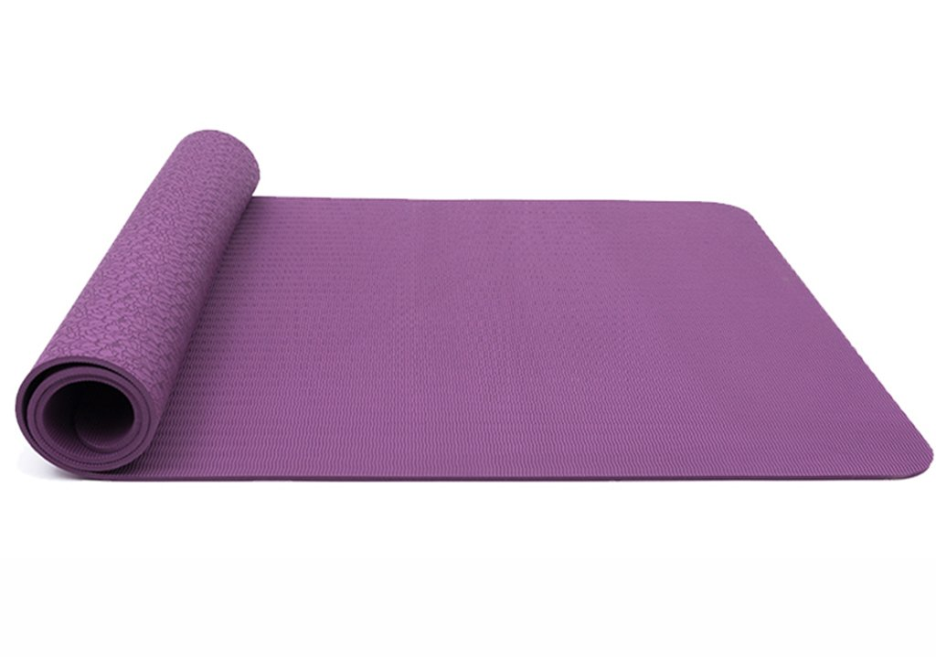 HCJYJD GUORONG Yogamatten, Flachs Fitness-Matte Rutschfeste Trainingsmatte Sit-ups Yogamatte Weich und bequem Rutschfest Yoga Matte (Farbe    3)
