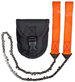 YunNasi Pocket Chain Saws Survival Handsaws with Nylon Pouch for Camping Emergency Backpack Hunting 25 In.