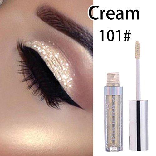 Halffle Liquid Eye Shadow, Cosmetic Make Up Shimmer Eyeshadow, Single Color Eye Shadow for Wedding Party Clue, 101#